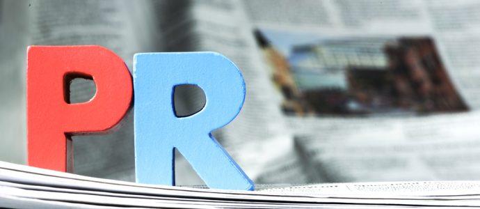PR block letters